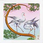 Журавли - символ здоровья и долголетия.